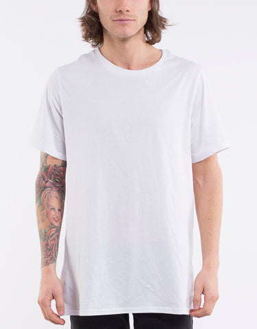 4011026Sil.blk Over Crotch Tee White