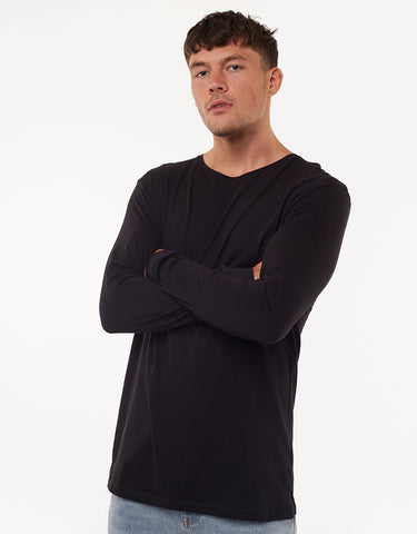 OVER CROTCH LONG SLEEVE TEE - BLACK
