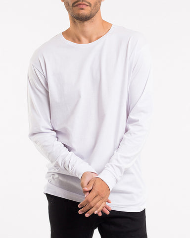 OVER CROTCH LONG SLEEVE TEE - WHITE