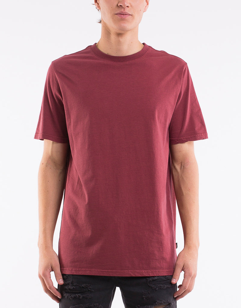 RELAXED TEE - BURGANDY