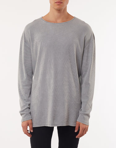 ACID WAFFLE LONG SLEEVE TEE - LIGHT GREY