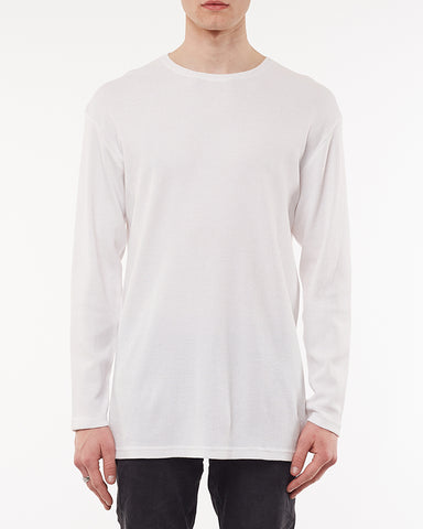 ACID WAFFLE LONG SLEEVE TOP - WHITE