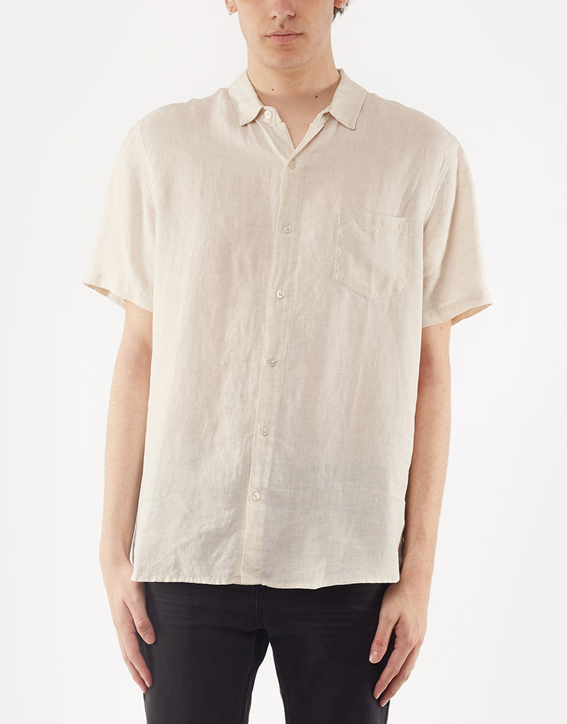 Linen Ss Shirt Natural