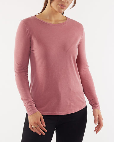KARA LONG SLEEVE TEE - MUSK