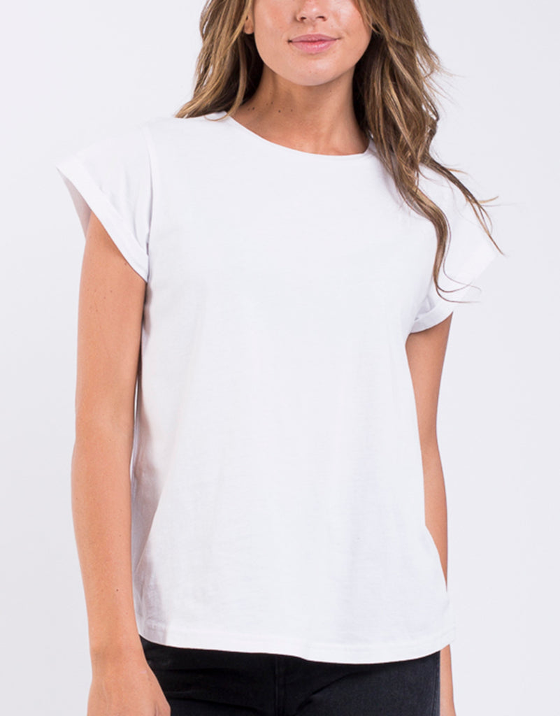 LUCY TEE - WHITE