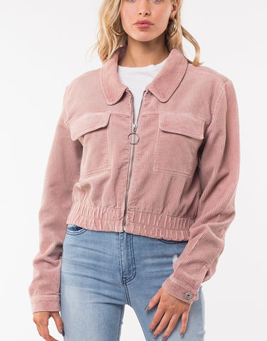 CORDED JACKET - DUSTY PINK