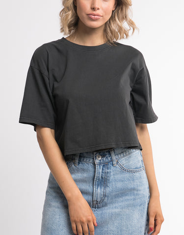 RELAXED CROP - WASHED BLACK