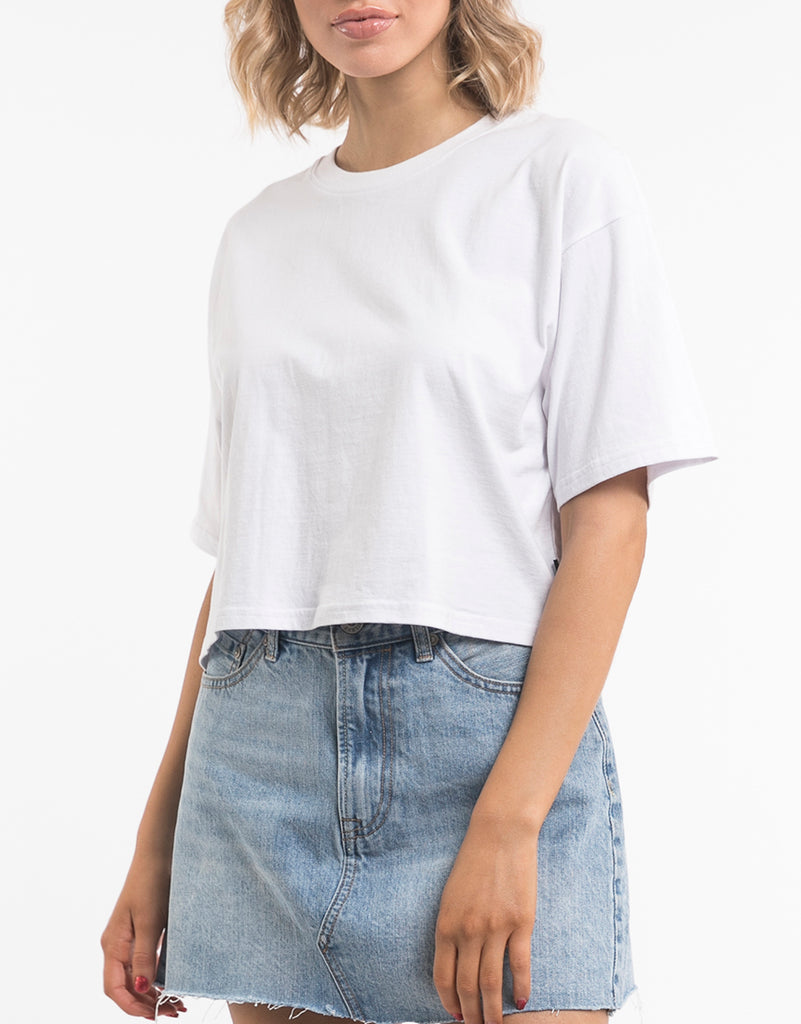 RELAXED CROP - WHITE