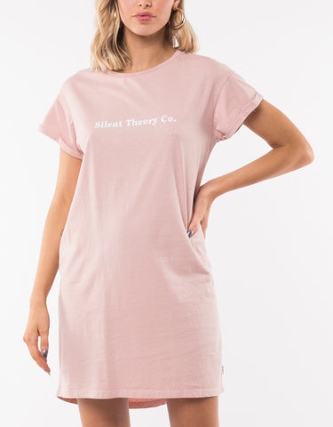 CHAOTIC TEE DRESS - PINK