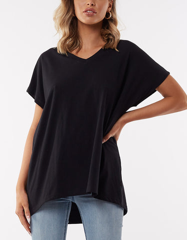 SLOUCH TEE - BLACK