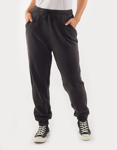ACID WASH JOGGER - BLACK