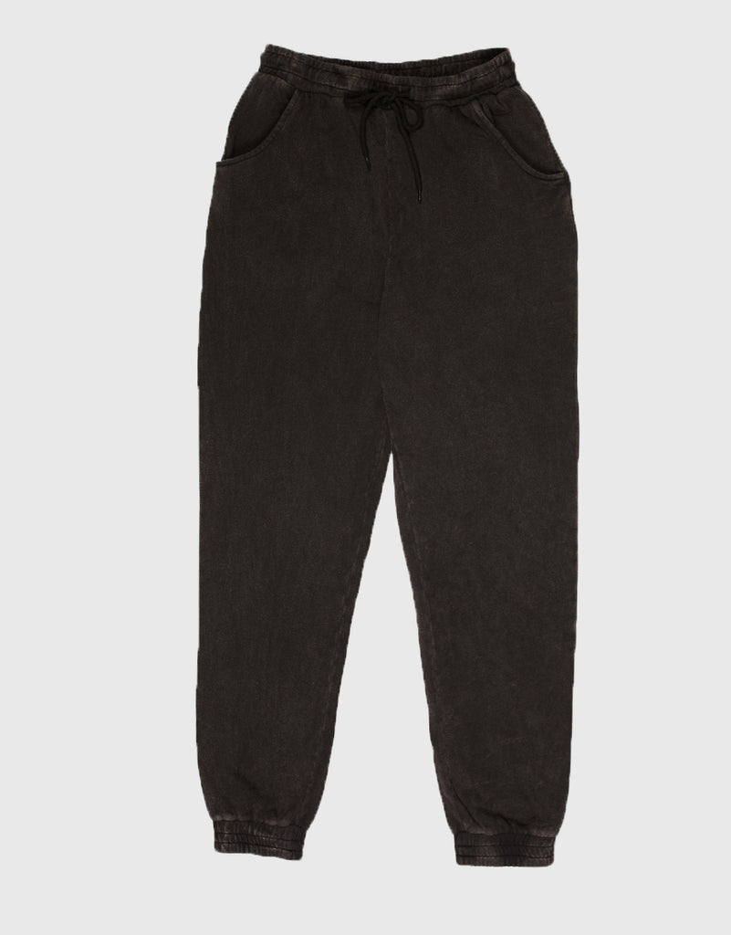 ACID WASH JOGGER - WASHED BLACK