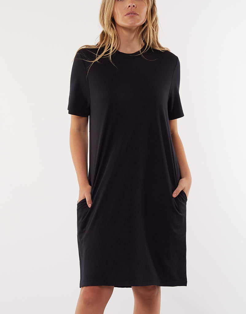 Gravity Tee Dress Black