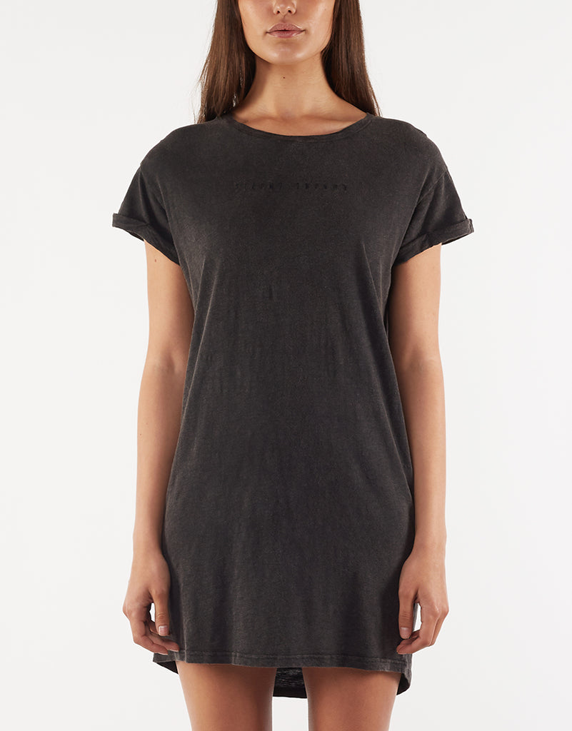 Obsession Tee Dress Washed Black