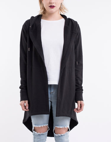 Cardi Ashleigh Hooded Black