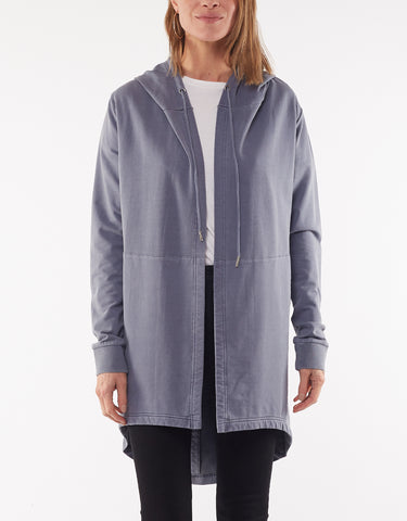 ASHLEIGH HOODED CARDI - DENIM