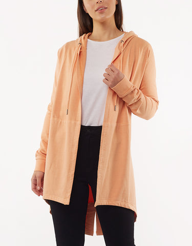 ASHLEIGH HOODED CARDI - PEACH