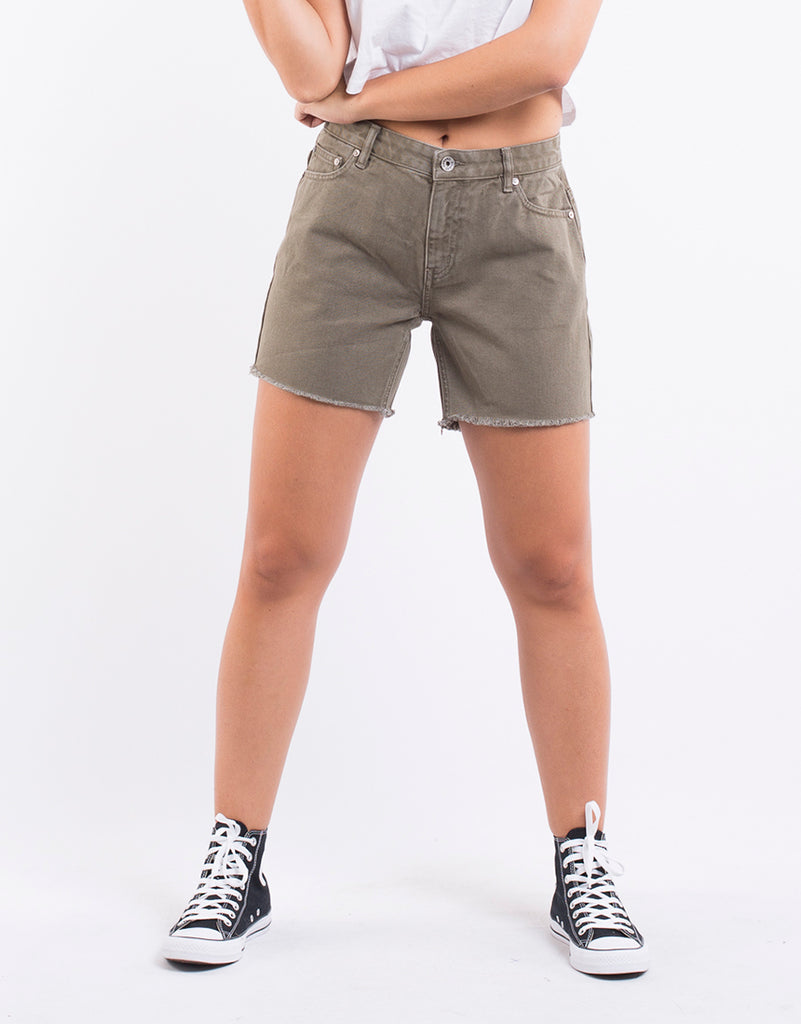 CRUSHED SHORT - KHAKI