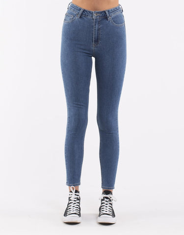 VICE HIGH SKINNY JEAN - BLUE BELL