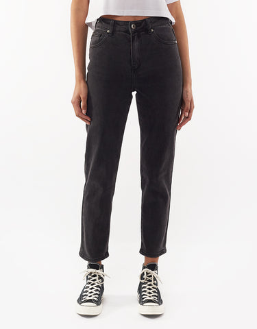 SIERRA MOM JEAN - WASHED BLACK