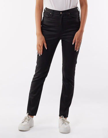 VICE HIGH SKINNY JEANS - COATED BLACK