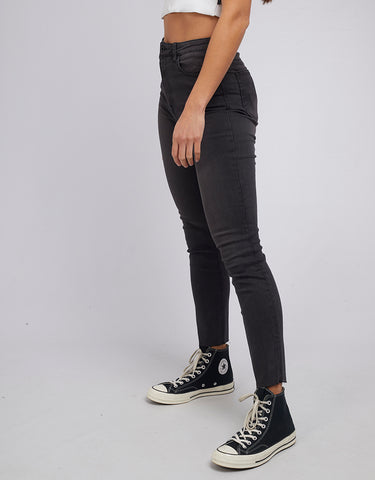 Vice High Skinny Jean Wrkd Blk Black