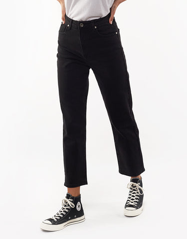 Cali Straight Jean Midnight Black