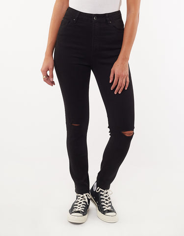VICE HIGH SKINNY JEAN - BLACK SLASH