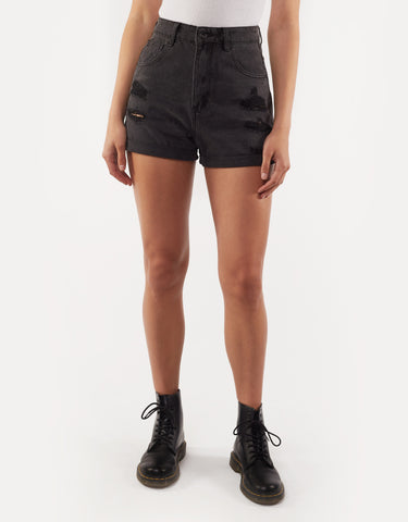 High Waisted Union Short Black