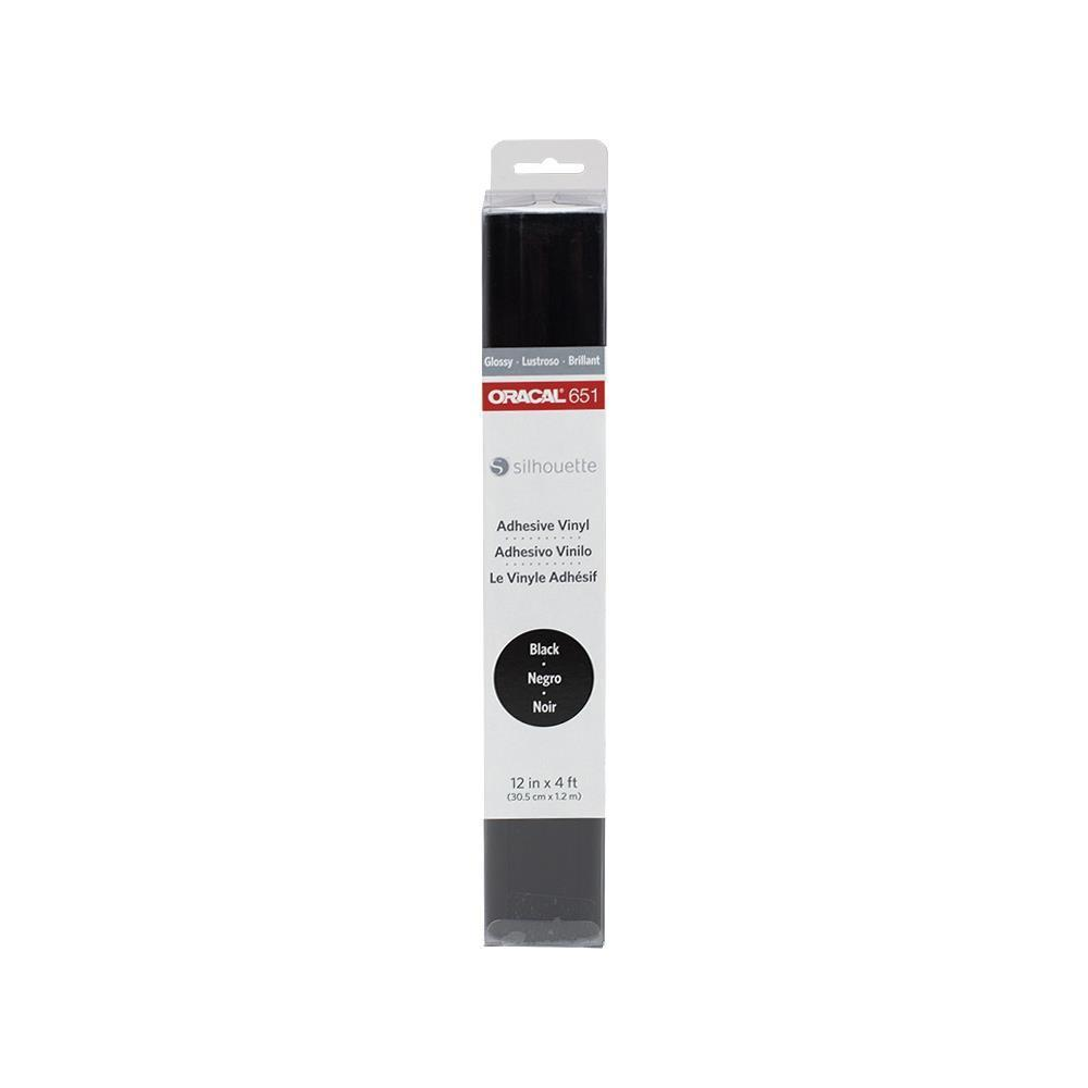 Black Oracal 651 Glossy Vinyl Roll 12 Inches by 150 Feet