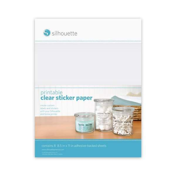 Silhouette Cameo Printable Clear Sticker Paper