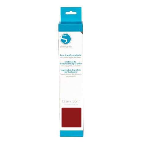 Silhouette America - Smooth Heat Transfer Material - 12 x 36 inch - Red