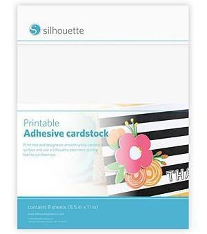 Silhouette - Printable White Adhesive-Backed Cardstock