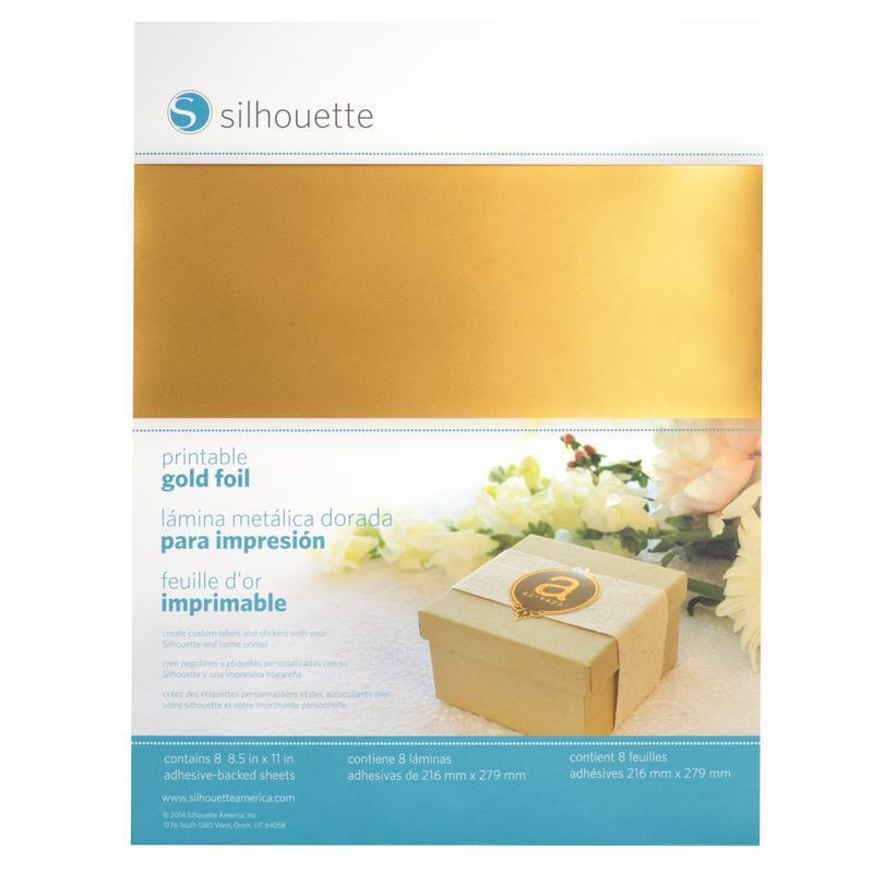 Silhouette Cameo - Printable Gold Foil