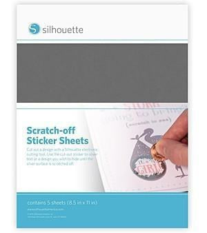 Silhouette - Scratch-Off Sticker Sheets - Silver