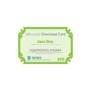 Silhouette Usd$25 Download Card