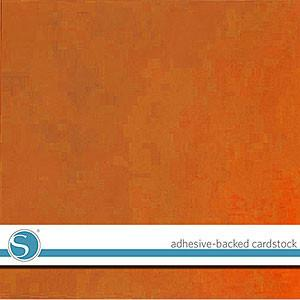 Silhouette 12X12in Adhesive Backed Cardstock -  Burnt Orange  (Per Sheet)