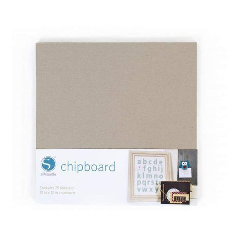 Silhouette - 12 X 12 Media Chipboard