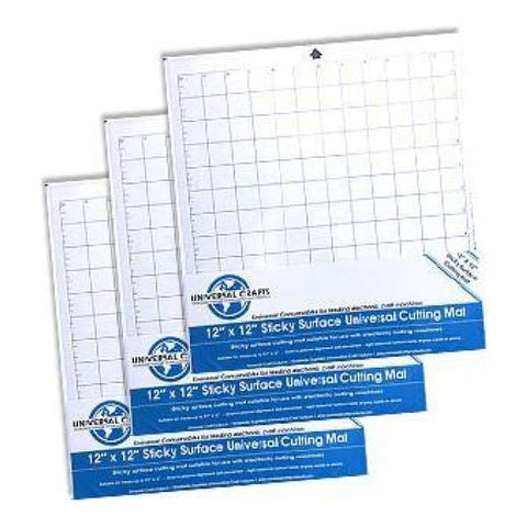 Universal Crafts - Sticky Surface Cutting Mat 12X12 - 3 Pack