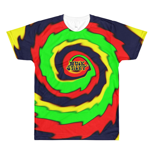 Muck Sticky Groovy Swirl All-Over Printed T-Shirt