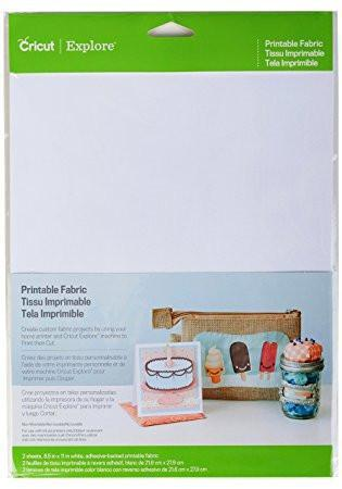 photograph about Printable Fabric Paper called Cricut Ink Jet Printable Sheets