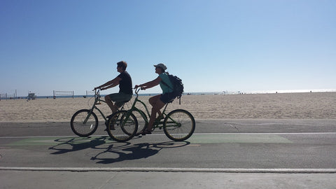people riding a bike