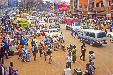 bustling city in africa