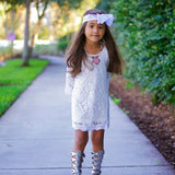 lace girls dress summer cotton beautiful