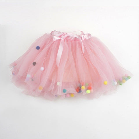 pompom tutu girls toddler baby