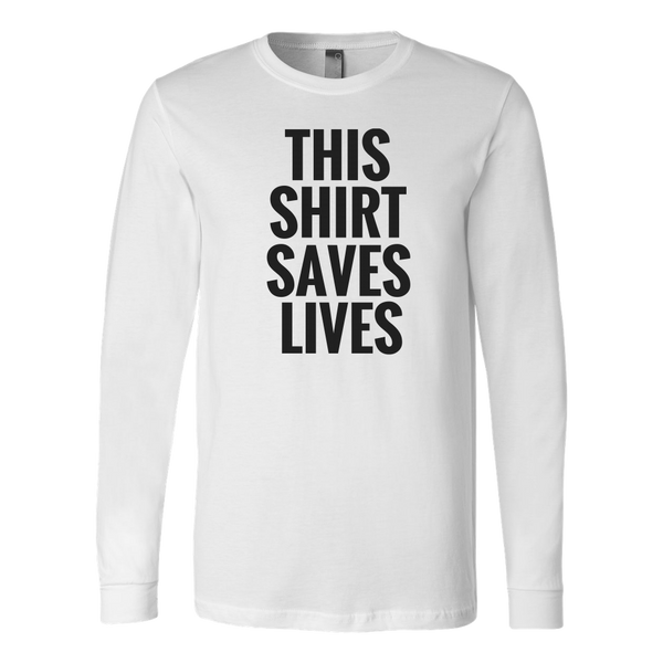 This Shirt Saves Lives Long Tee - The Zero To Hero Club