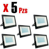 Reflector LED 50W Calido 5 Piezas - Interled Mexico