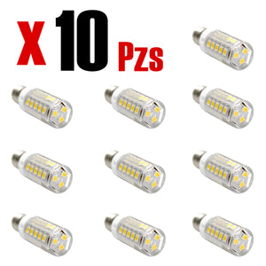 Vela E12 LED 5W Calido 10 Piezas - Interled Mexico