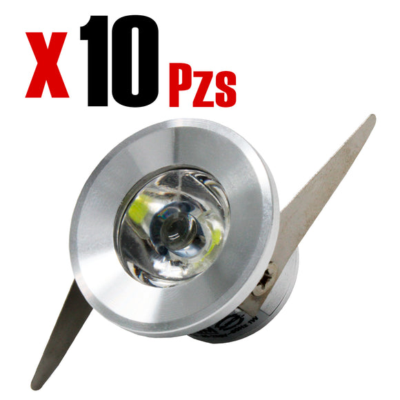 Downlight Empotrado Cristal Redondo 3 Temperaturas de color 6W 10 Piezas - Interled Mexico