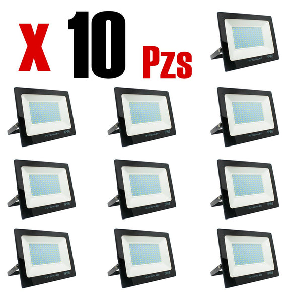 Reflector LED 10W Calido 10 Piezas - Interled Mexico
